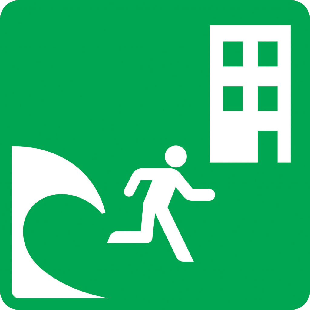 Tsunami Vertical Refuge sign