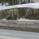 Outcrop in Snow
